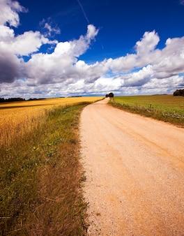 Dwie nieutwardzone wiejskie drogi
