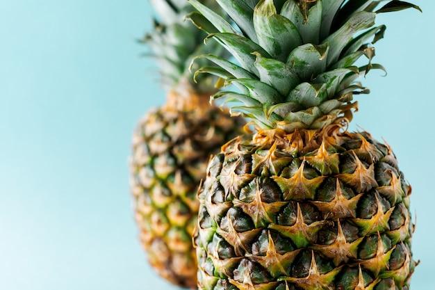 Dwie powierzchnie owoców ananasa