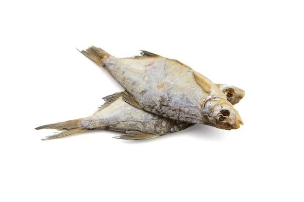Dwie suche ryby na białym tle