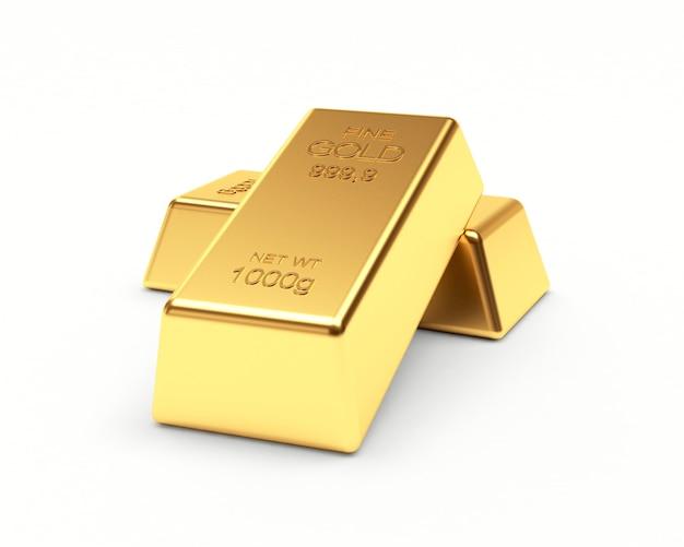 Dwie sztabki złota