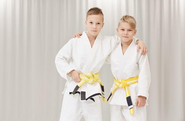 Dwóch partnerów w karate