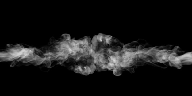 Dym eksploduje na czarnym tle