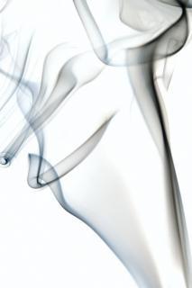 Dym na białym aromaterapią