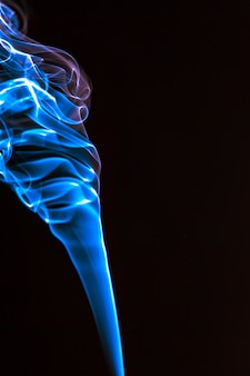 Dym niebieski streszczenie tło