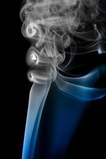 Dym, zapach, formę, wirować