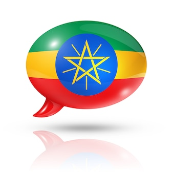 Dymek z flagą etiopii