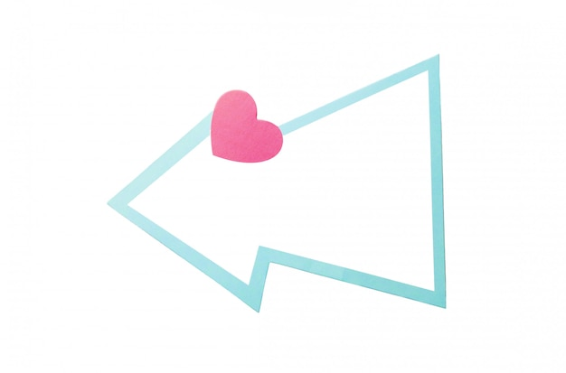 Dymek z sercem i jasnoniebieską obwódką