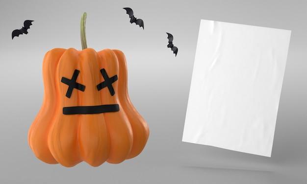 Dynia i papierowa strona na halloween