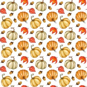 Dynie wzór jesień tło jesień
