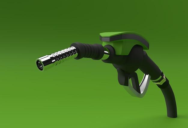 Dysza pompy paliwa renderowania 3d na białym tle na kolor tła.