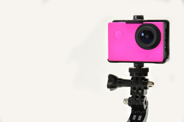 Działanie aparatu w kolorze fuksji