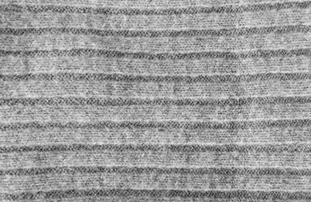 Dzianiny paski tkaniny tekstura tło, szary wzór włókienniczych