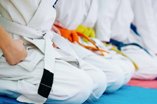 Dzieci trenujące na karate-do.
