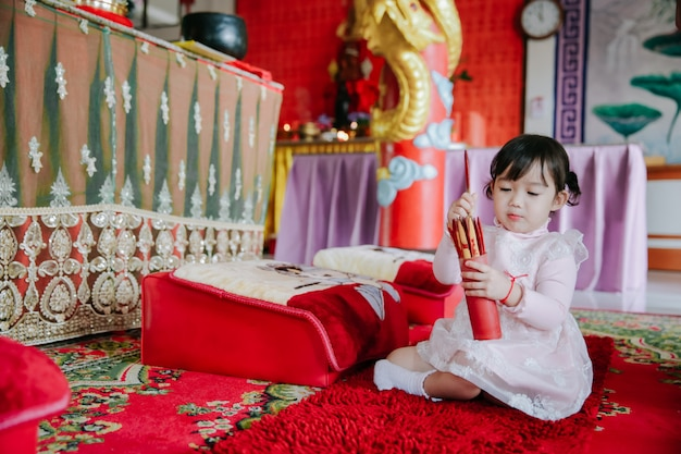Dziecko azjatyckie posiada esiimsi