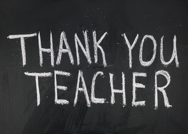 Dziękuję napis nauczyciela