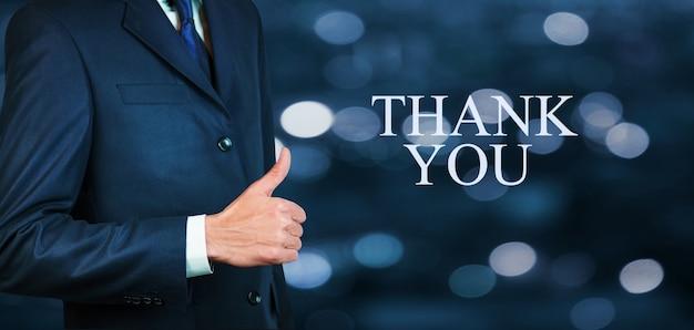 Dziękuję obok biznesmena