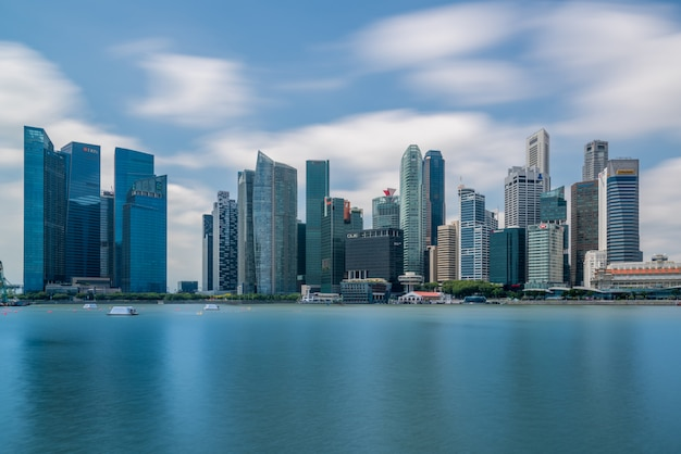 Dzielnica finansowa singapuru w centralnej części