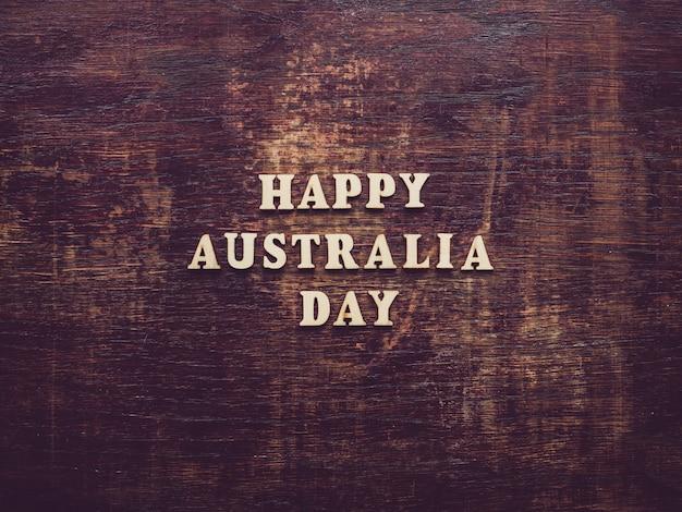 Dzień australii. piękna, jasna karta. widok z góry