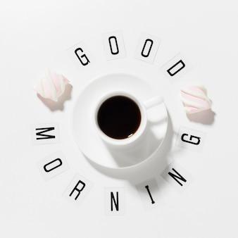 Dzień dobry filiżankę kawy