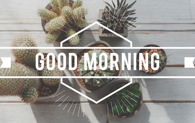 Dzień dobry napis