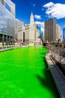 Dzień farbowania rzeki chicago st 'partick day.