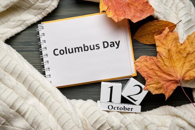Dzień kolumba jesiennego miesiąca kalendarzowego października