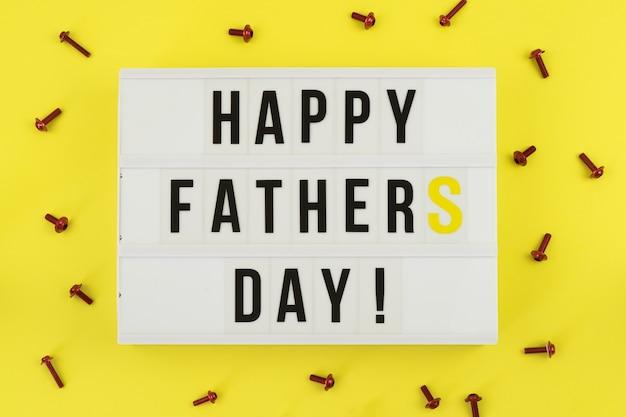 Dzień ojca koncepcja karty z pozdrowieniami
