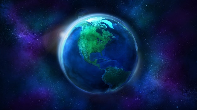 Dzień połowa ziemi z kosmosu