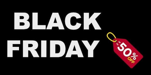 Dzień sprzedaży w czarny piątek i znak 50% zniżki