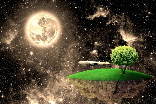 Dzień ziemi. elementy tego obrazu dostarczone przez nasa