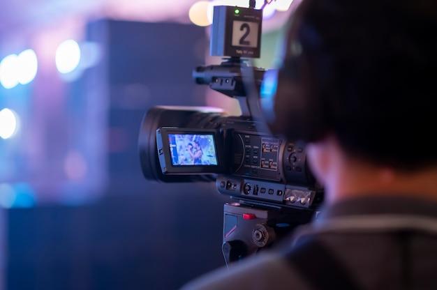 Dziennikarze nagrywają konferencję ze spotkania