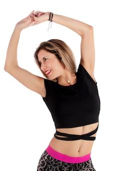 Dziewczyna ćwiczeń fitness