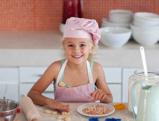 Dziewczyna do pieczenia ciasteczek