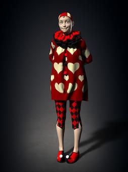 Dziewczyna w fantazyjnej sukience. ilustracja 3d