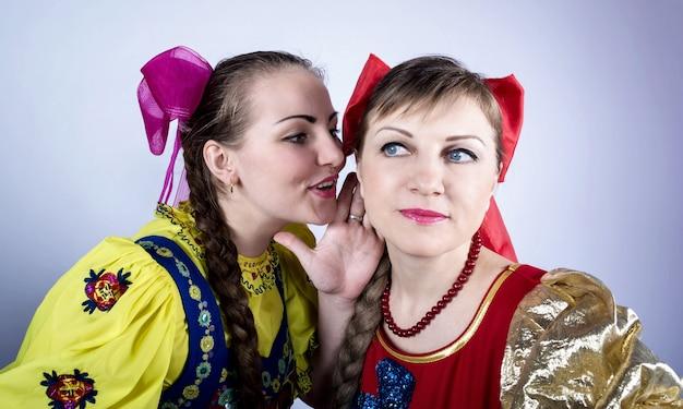Dziewczyna w rosyjskim stroju ludowym