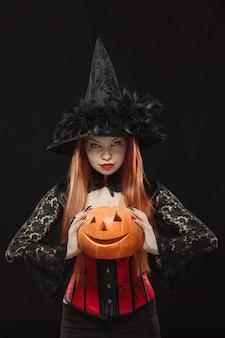 Dziewczyna z dyni halloween