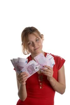 Dziewczyna z kupą euro