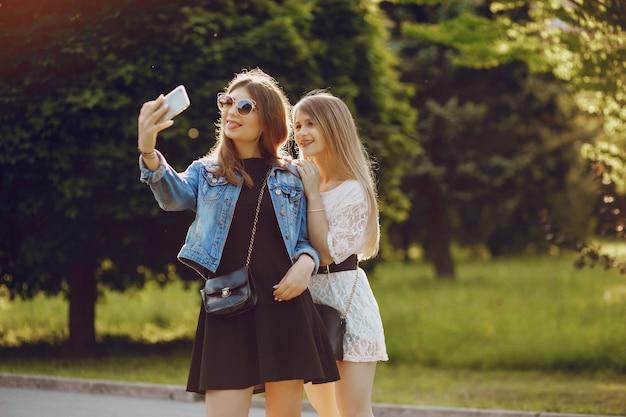 Dziewczyny w parku