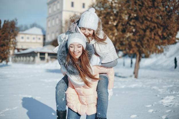Dziewczyny w zimie
