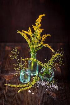 Dzikie kwiaty w bukiecie