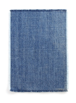 Dżinsy niebieskie tekstury na białym tle