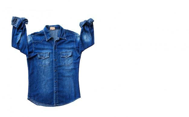 Dżinsy niebieskiej koszuli