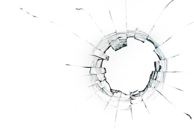 Dziura od piłki na białym tle