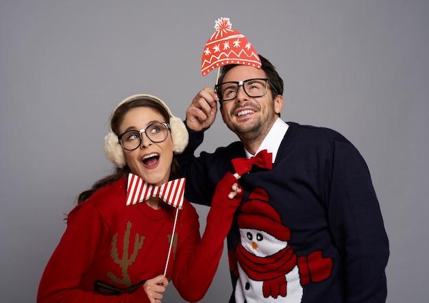 Dziwna para w czasie świąt bożego narodzenia
