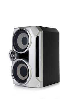 Dźwiękowy głośnik na białym tle