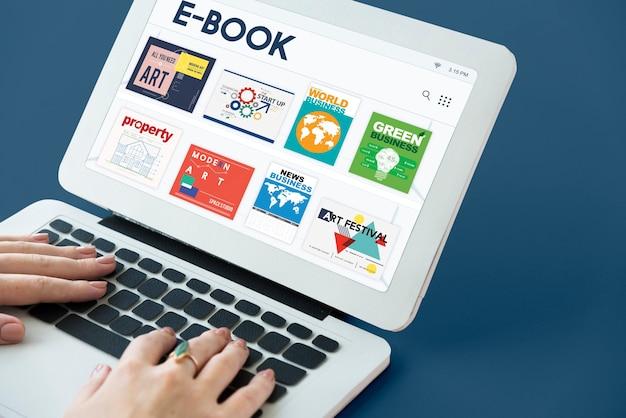 E-book cyfrowy magazyn kolekcji publikacji do pobrania grafiki