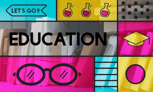 Edukacja akademickie okulary ikona grafika