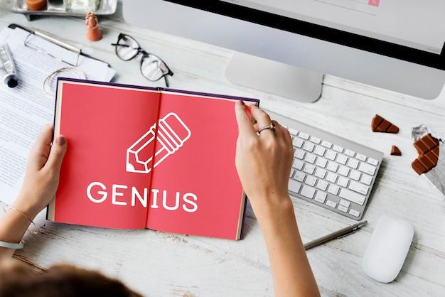 Edukacja college nauka wiedza genius concept