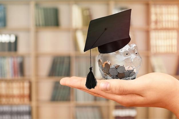 Edukacja stypendium student ikona inwestycje pieniądze akademickie