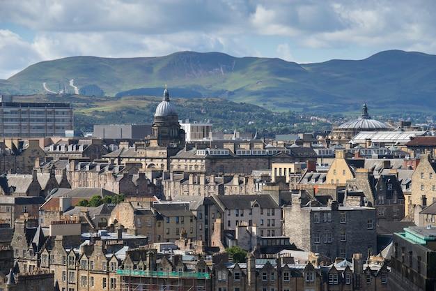 Edynburg z calton hill, szkocja, wielka brytania,